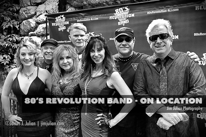 80's Revolution Band On Location BW
