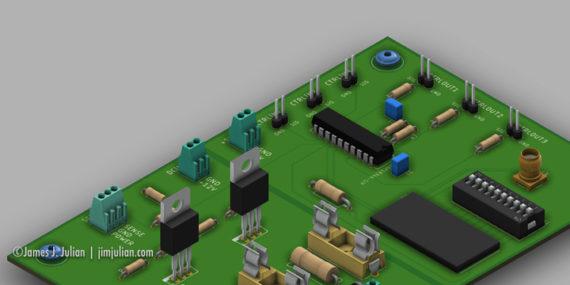 Hose Reel Controller Prototype Circuit Board Design