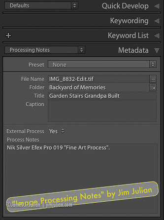 Image Processing Notes Plugin Dialog
